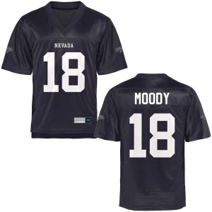 Elijah Moody Nevada Wolf Pack Youth Authentic Football Jersey  -  Navy Blue