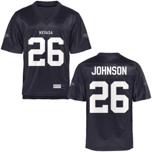 Kendall Johnson Nevada Wolf Pack Youth Authentic Football Jersey  -  Navy Blue