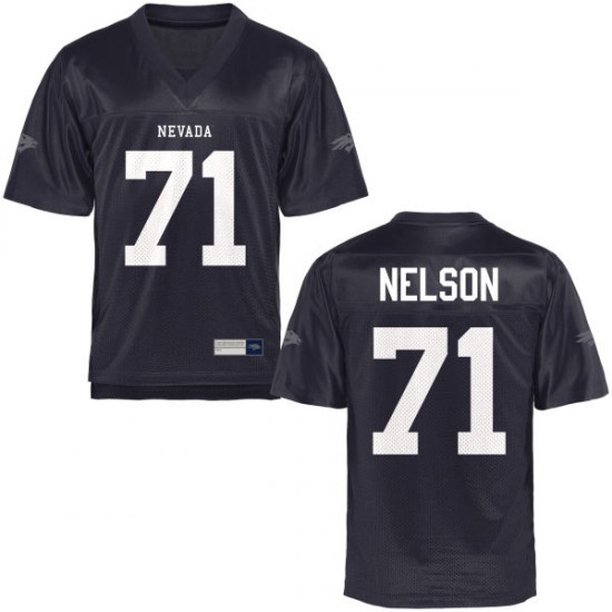 Jake Nelson Nevada Wolf Pack Women's Authentic Football Jersey  -  Navy Blue